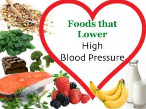 Foods for lowering blood pressure